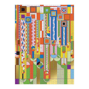 Frank Lloyd Wright Saguaro Cactus And Forms Foil Stamped 1000 Piece Puzzle Foil Puzzles Galison