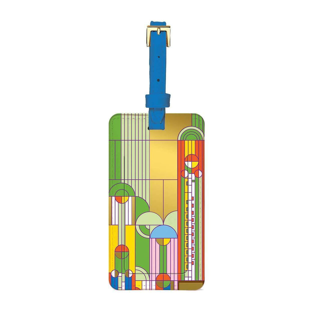 Frank Lloyd Wright Saguaro Forms & Cactus Flowers Luggage Tag Travel Accessories Galison