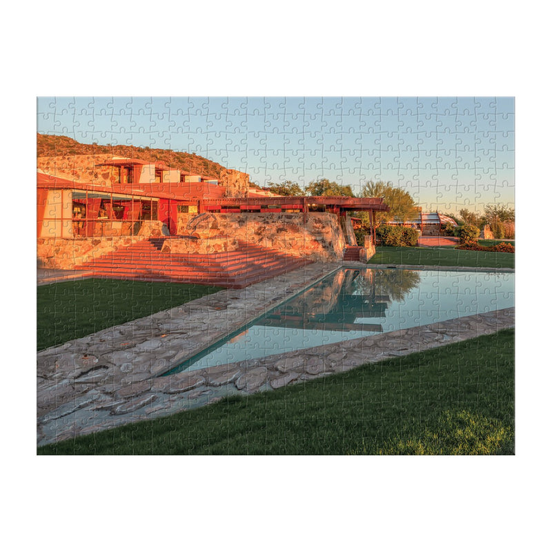 Frank Lloyd Wright Taliesin and Taliesin West 500 Piece Double-Sided Puzzle Double Sided 500 Piece Puzzle Frank Lloyd Wright Collection