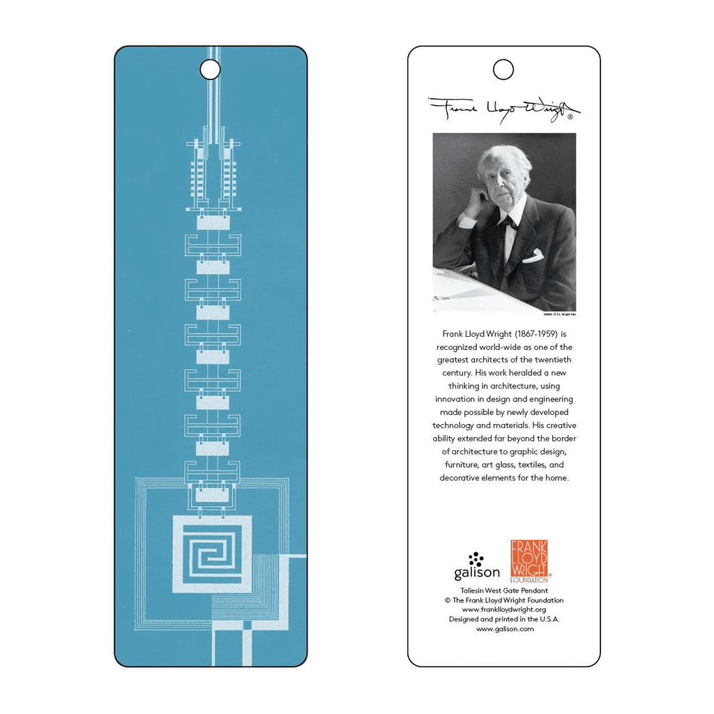Frank Lloyd Wright Taliesin West Gate Bookmark (Blue) Bookmarks Galison