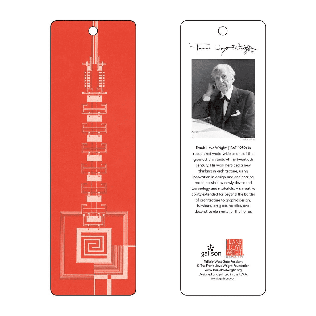 Frank Lloyd Wright Taliesin West Gate Bookmark (Red) Bookmarks Galison