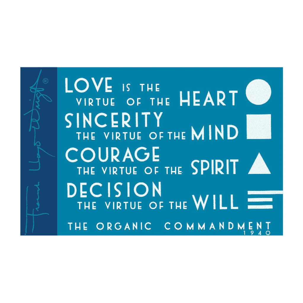Frank Lloyd Wright The Organic Commandment Magnet Magnets Galison