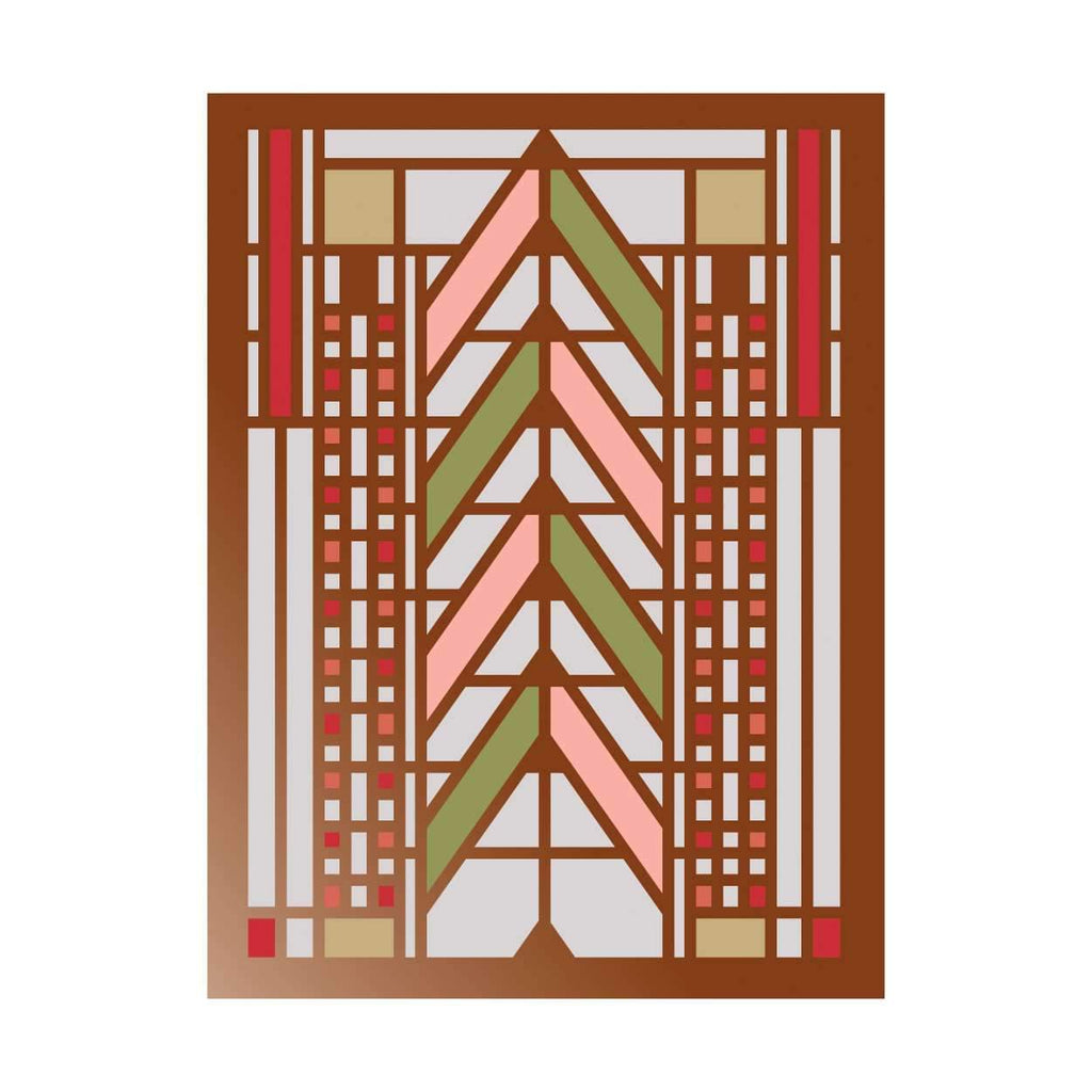 Frank Lloyd Wright Tree Of Life Large Embellished Notecards Holiday Notecards Galison