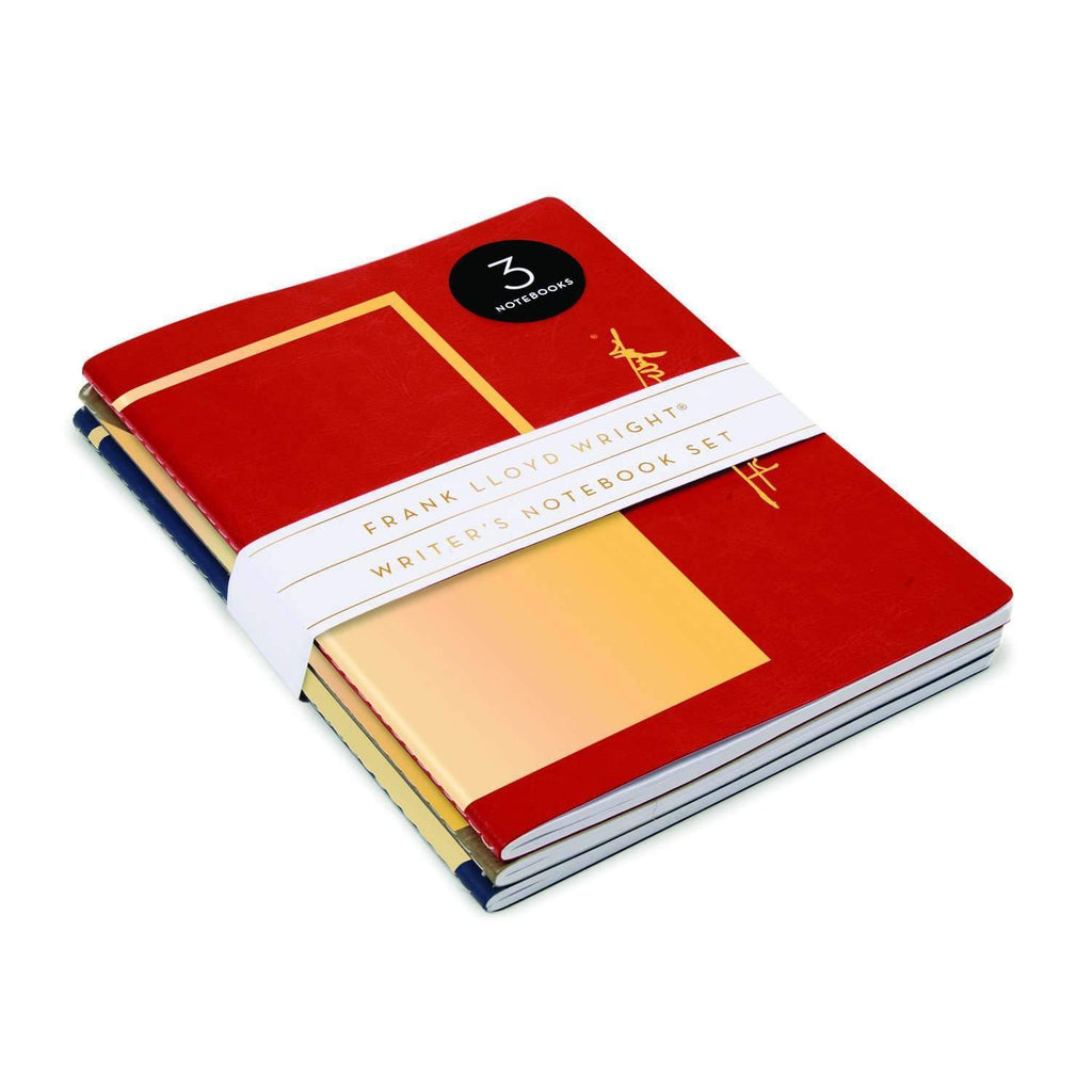 Frank Lloyd Wright Vegan Leather Writer's Notebook Set Journals and Notebooks Galison