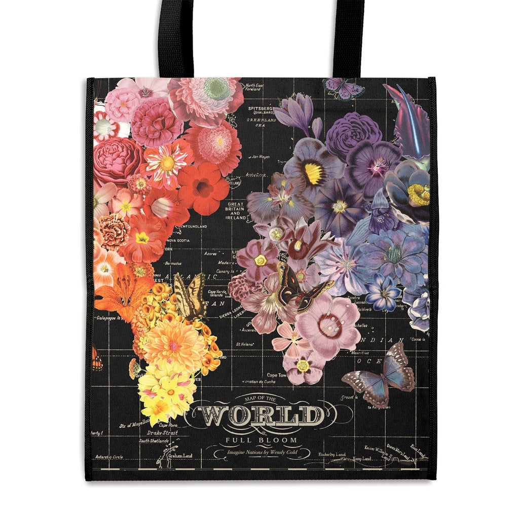 Full Bloom Reusable Shopping Bag Tote Bags Wendy Gold Collection