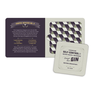 Gin and Bear It Coaster Book Coaster Sets Galison