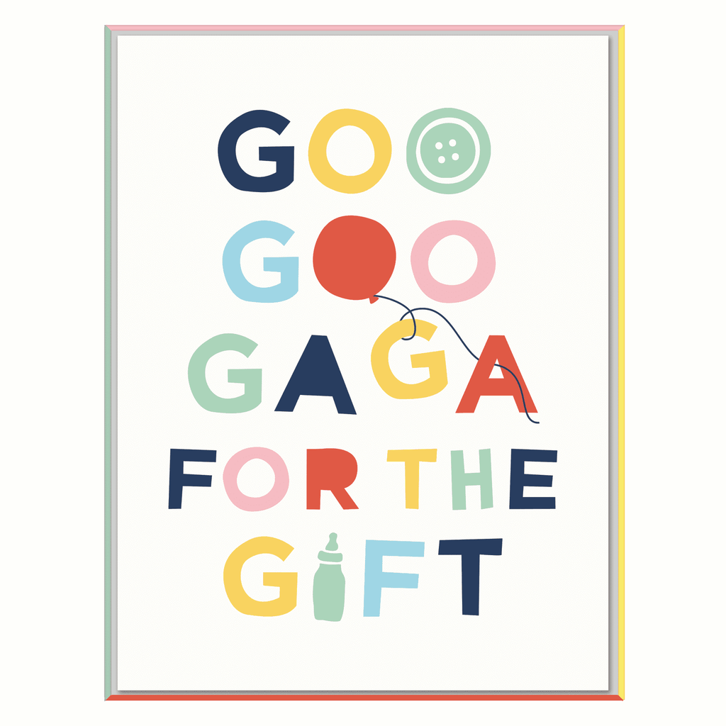 Goo Goo Gaga For This Gift Notecards Baby Shower Cards Galison