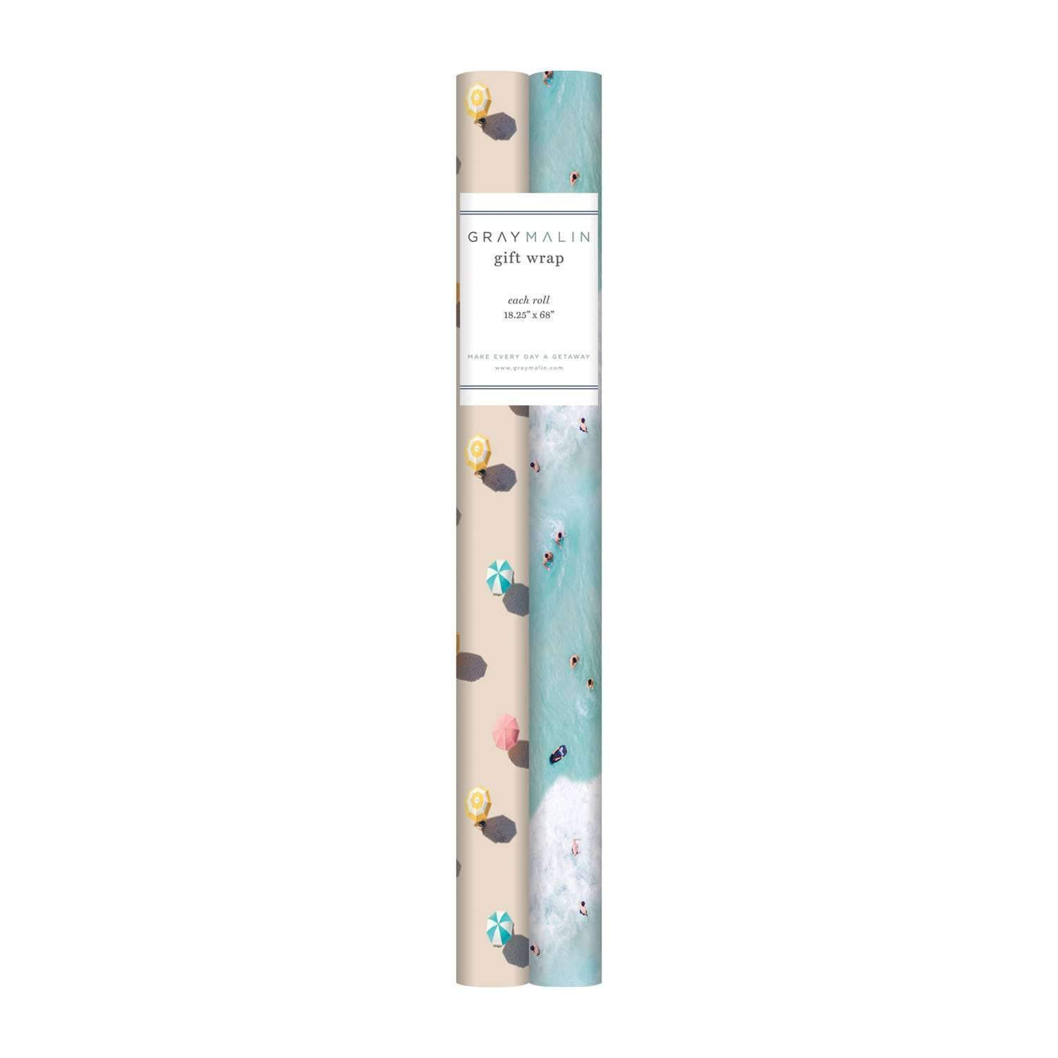 Gray Malin The Beach Birthday Gift Wrap Set Gift Wrap Sets Galison