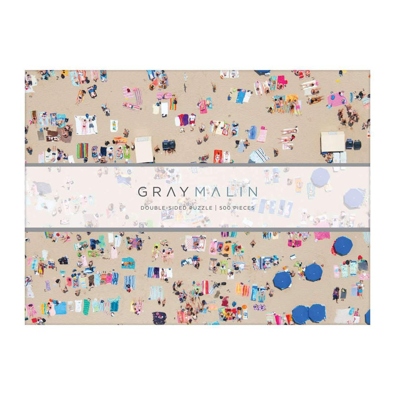 Gray Malin The Beach Two-sided Puzzle 2-sided 500 Piece Puzzles Galison
