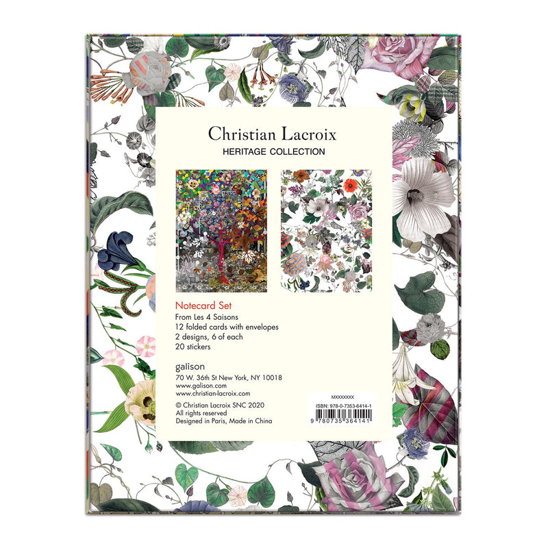 Heritage Collection Les 4 Saisons Boxed Notecards Christian Lacroix Boxed Notecards Christian Lacroix