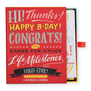 High Five by Ladyfingers Letterpress Greeting Card Assortment Greeting Cards Galison