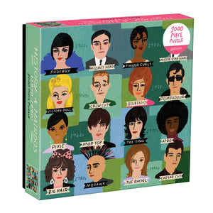 History of Hairdos 1000 Piece Puzzle 1000 Piece Puzzles Galison