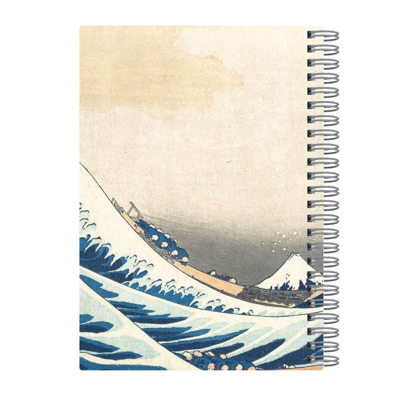 "Hokusai Great Wave Wire-O Journal 6 X 8.5"" Journals and Notebooks Galison"