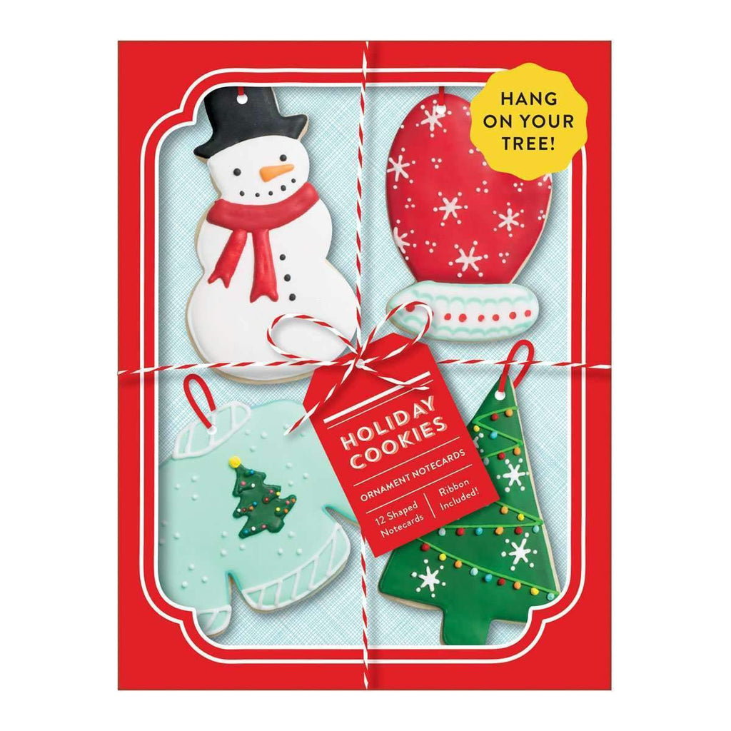 Holiday Cookies Shaped Notecard Portfolio Holiday Notecards Galison