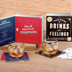 I Have Mixed Drinks About Feelings Coaster Book Coaster Sets Galison
