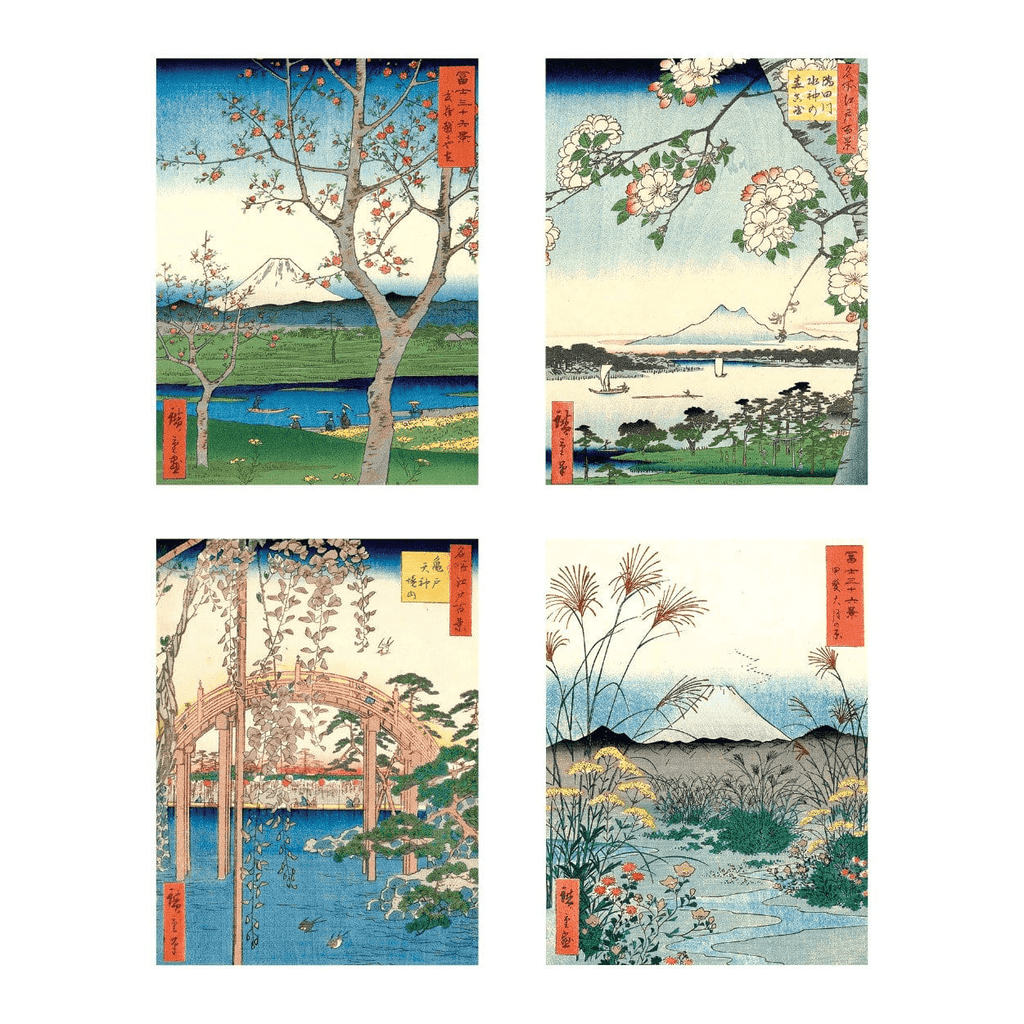 Japanese Views Note Card Portfolio Greeting Cards Galison