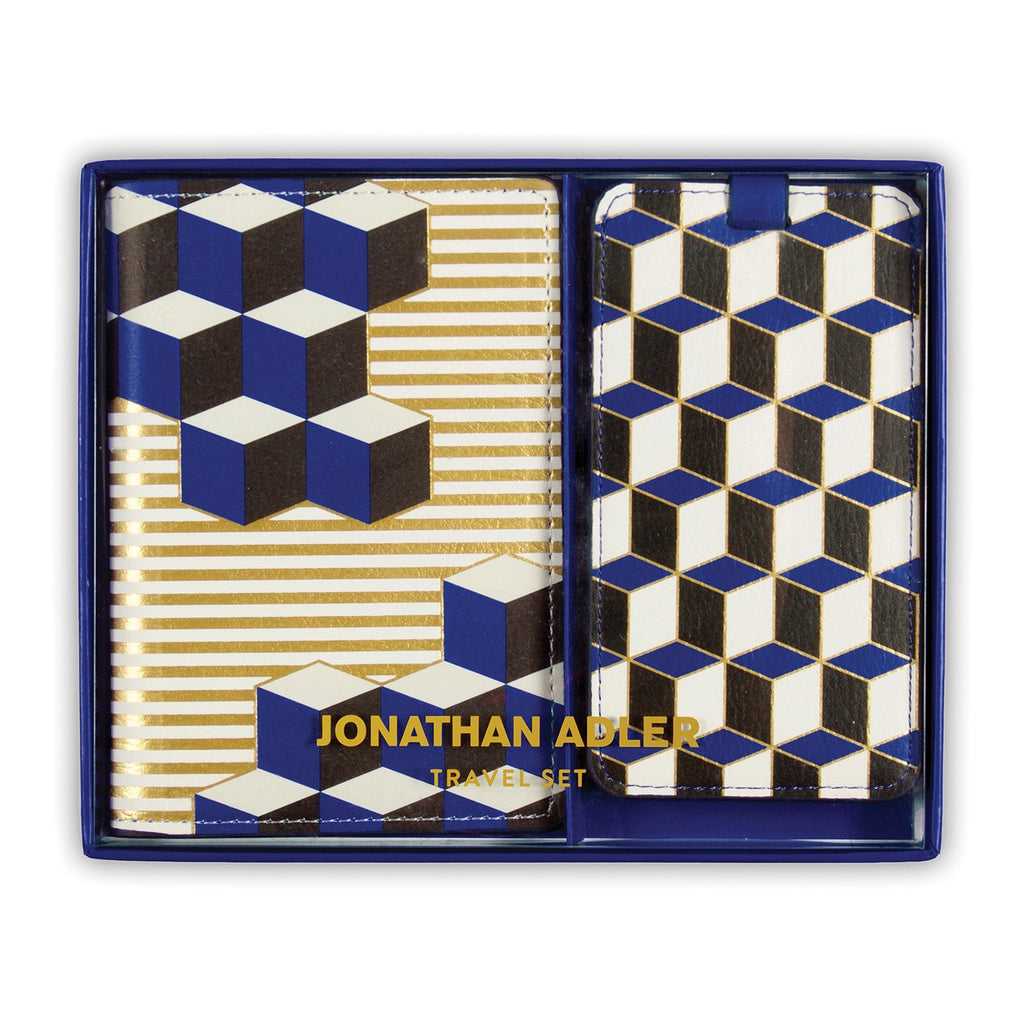 Jonathan Adler Blue Versailles Travel Set Travel Accessories Jonathan Adler Collection