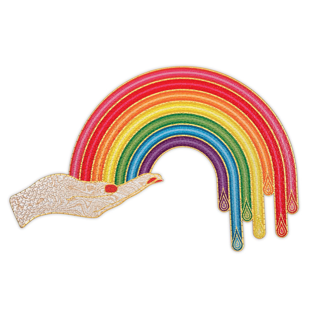 Jonathan Adler Rainbow Hand 750 Piece Shaped Puzzle Shaped Puzzles Galison
