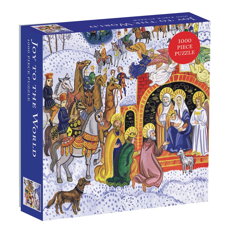 Joy To The World Square Boxed 1000 Piece Puzzle Holiday 1000 Piece Puzzles Galison
