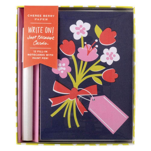 Just Because Write-on Cards DIY GREETING CARDS Galison