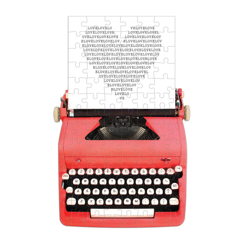 Just My Type Vintage Typewriter 100 Piece Mini Shaped Puzzle Mini-Shaped Puzzles Galison