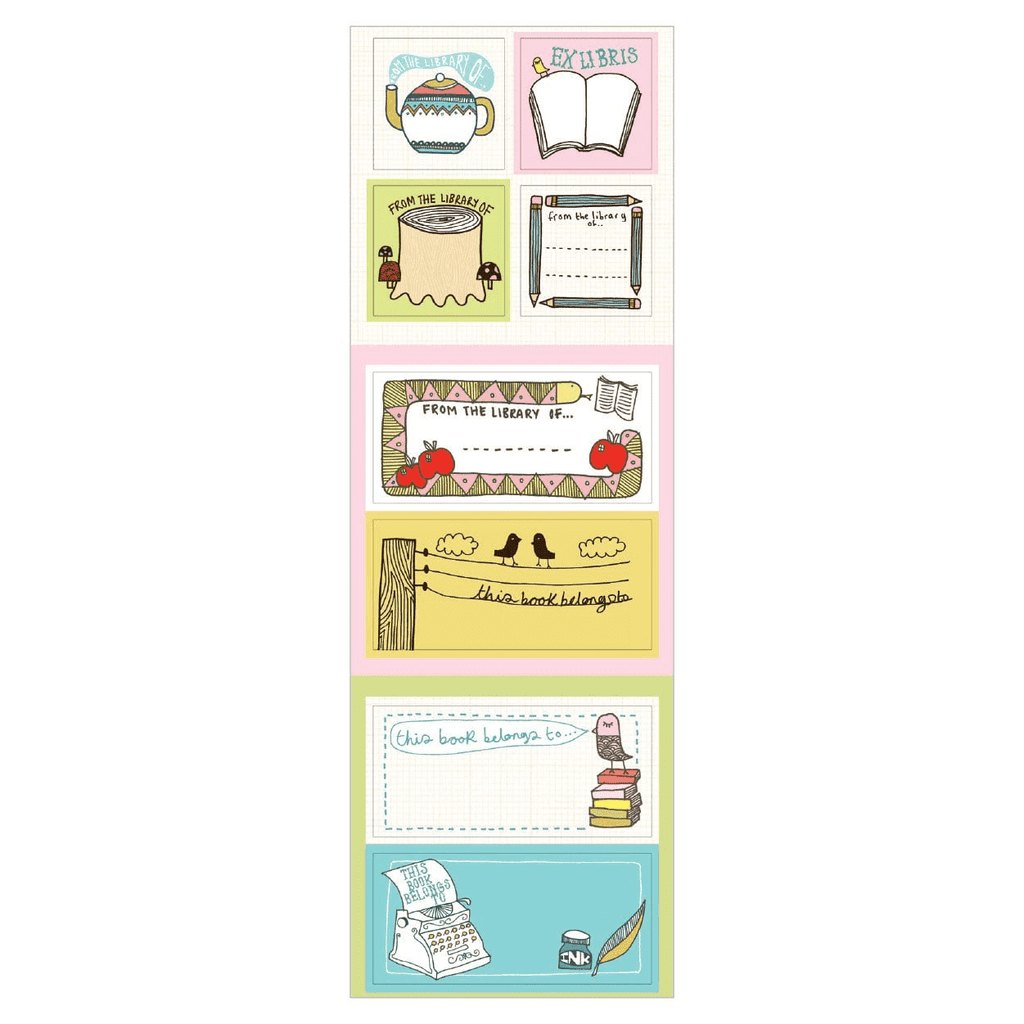 Kate Sutton Bookplates Bookmarks Galison