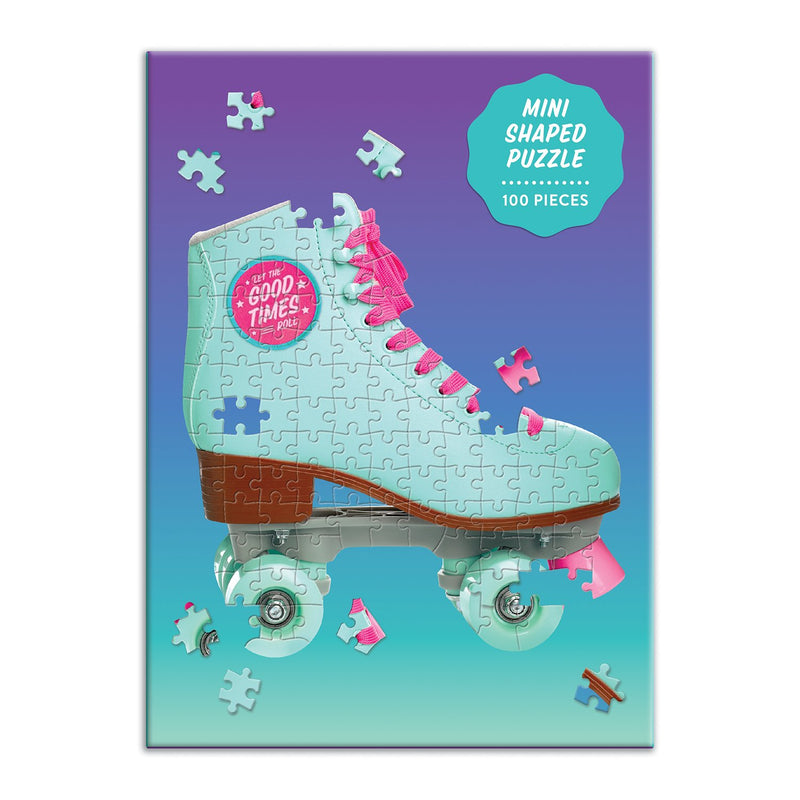 Let The Good Times Roll Roller Skate 100 Piece Mini Shaped Puzzle Mini-Shaped Puzzles Galison