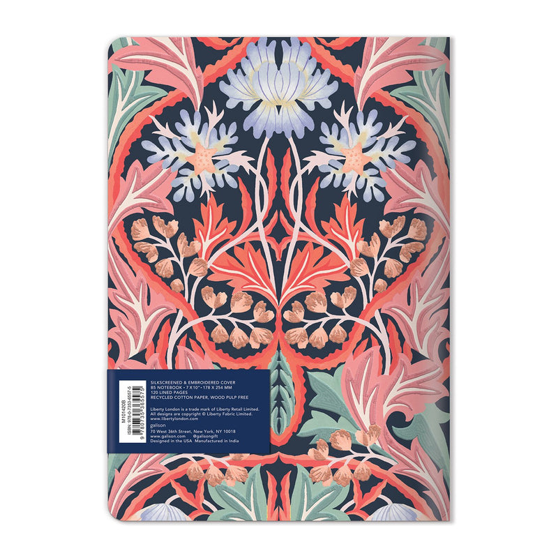 Liberty London May Handmade B5 Embroidered Journal Journals and Notebooks Liberty London Collection