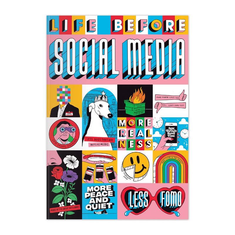 Life Before Social Media A5 Notebook Journals and Notebooks Life Before Social Media Collection