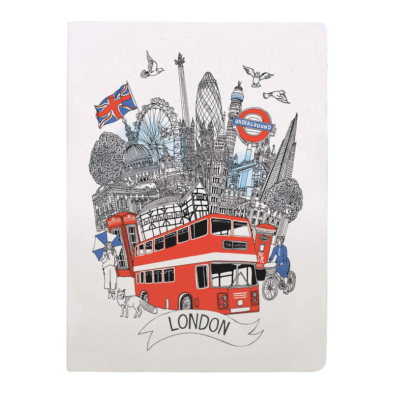 London Handmade Silkscreened Journal Journals and Notebooks Galison