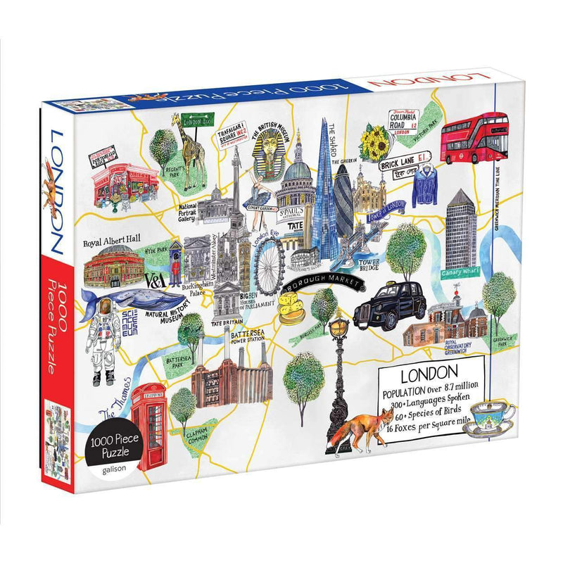 London Map 1000 Piece Puzzle 1000 Piece Puzzles Galison