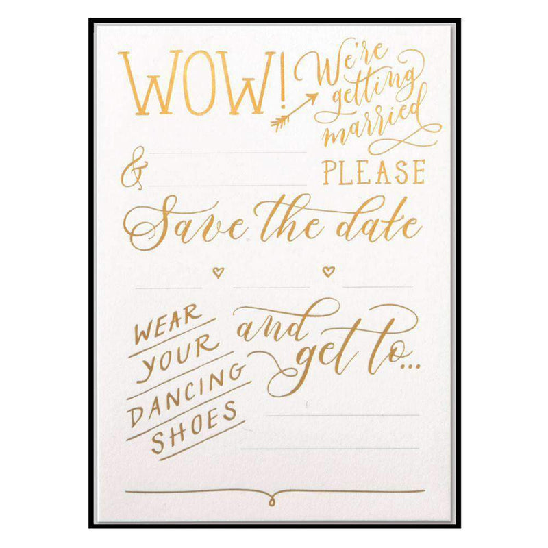 Love Lettering Save The Date Notecards Wedding Galison