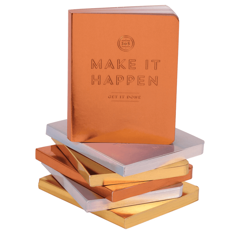 Make It Happen Copper Luxe Undated Pocket Planner Planners Galison