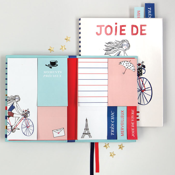 Marie Claire Joie De Vivre Sticky Notes Hardcover Book Sticky Notes Galison
