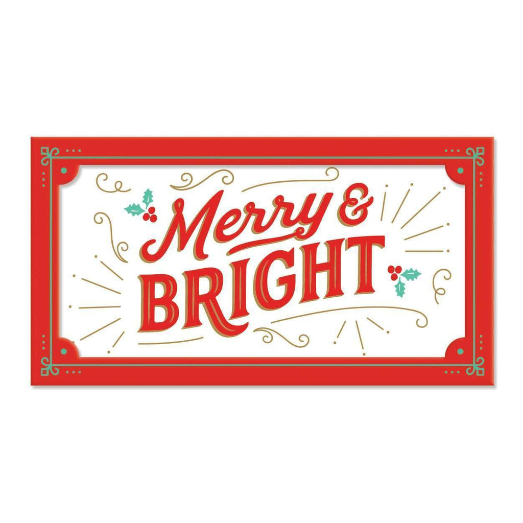 Merry & Bright Porcelain Tray Holiday Gifts Galison