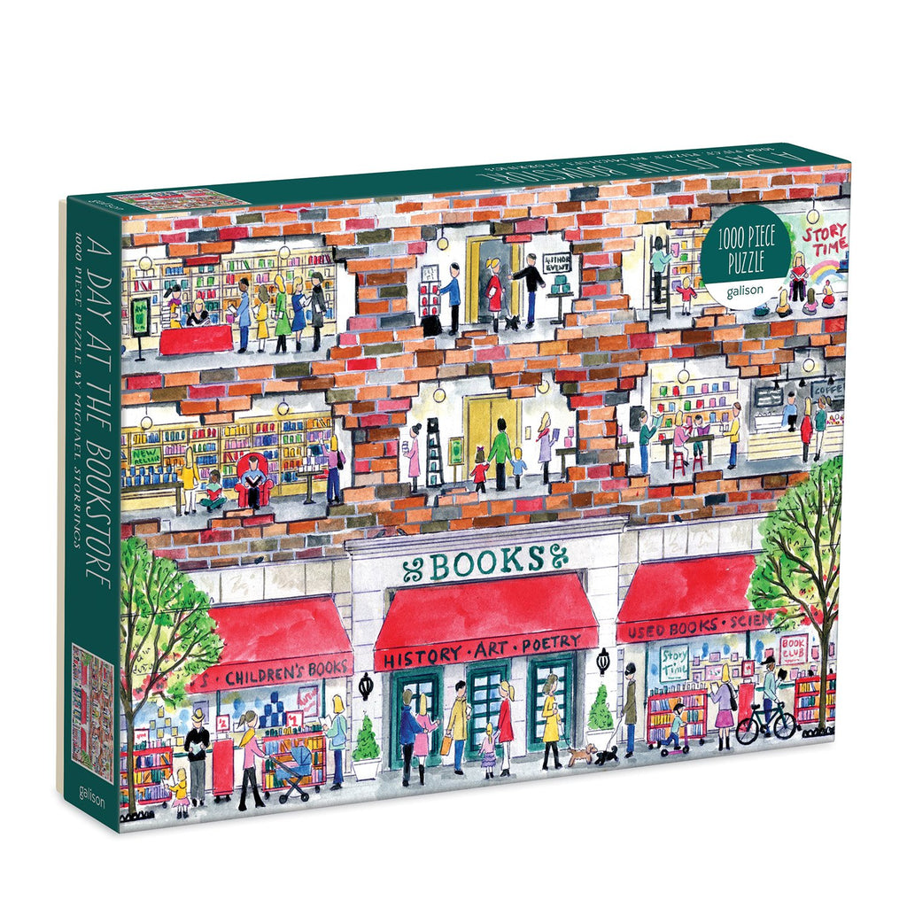 Michael Storrings A Day at the Bookstore 1000 Piece Puzzle 1000 Piece Puzzles Michael Storrings Collection