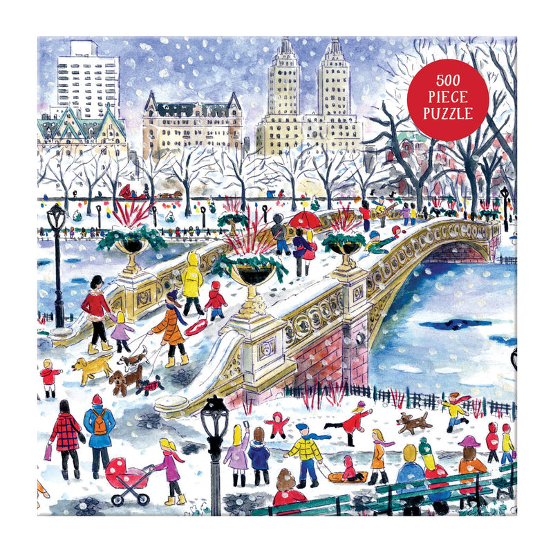 Michael Storrings Bow Bridge In Central Park 500 Piece Puzzle holiday 500 Piece Puzzles Galison