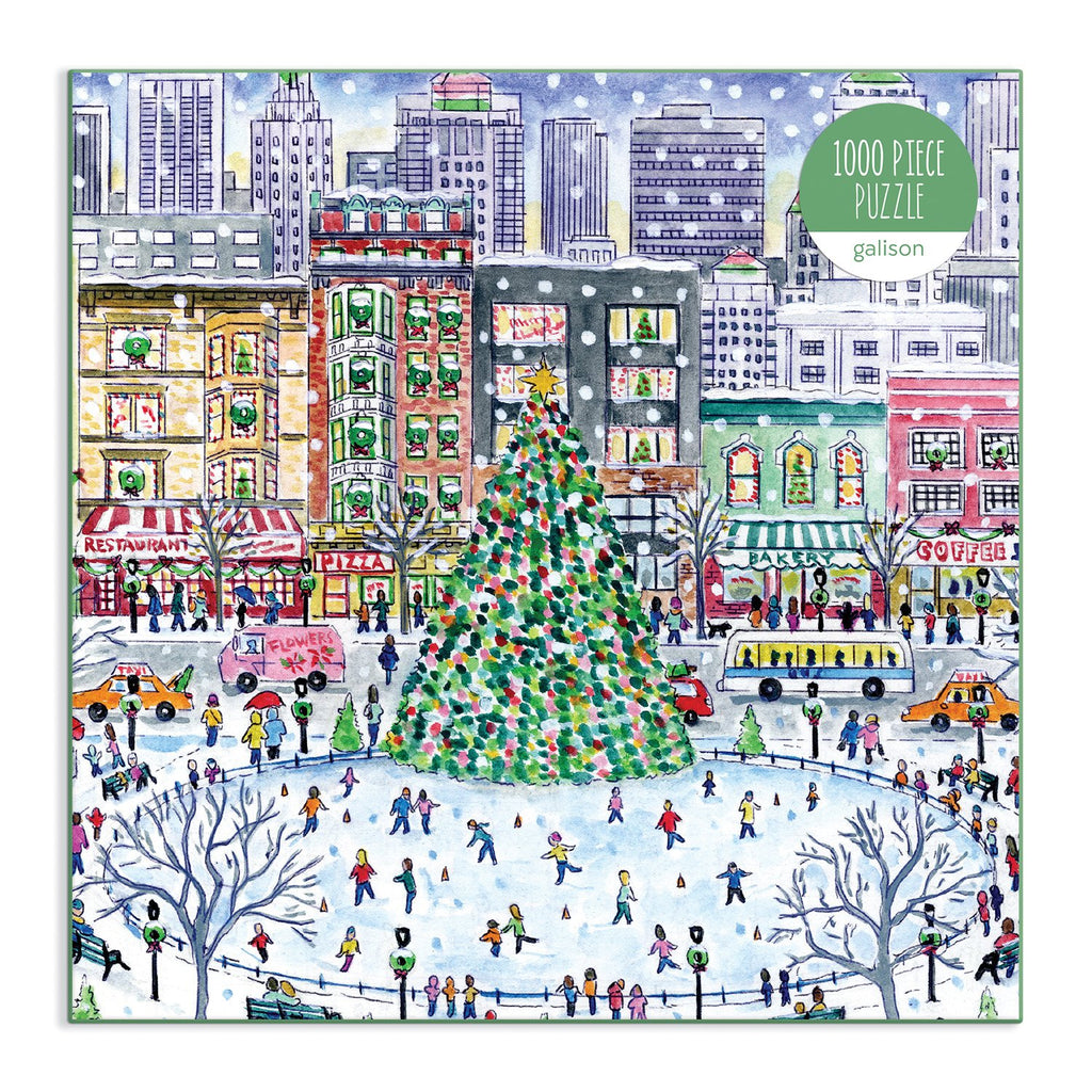 Michael Storrings Christmas in the City 1000 Piece Puzzle Holiday 1000 Piece Puzzles Michael Storrings Collection