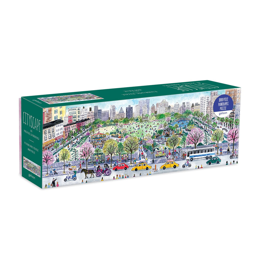 Michael Storrings Cityscape 1000 Piece Panoramic Jigsaw Puzzle Panoramic Puzzles Michael Storrings Collection