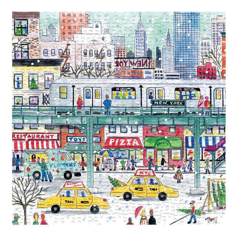 Michael Storrings New York City Subway 500 Piece Puzzle holiday 500 Piece Puzzles Galison