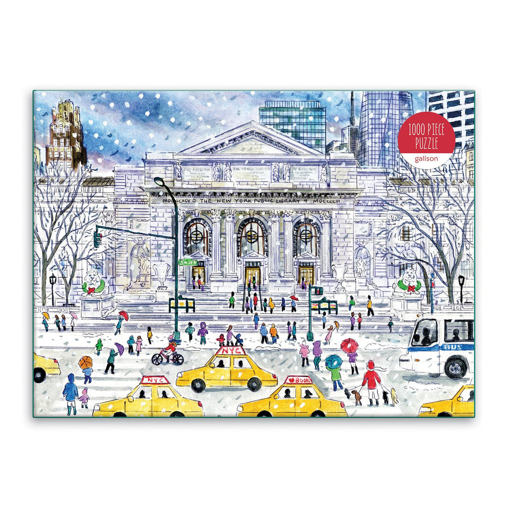 Michael Storrings New York Public Library 1000 Piece Jigsaw Puzzle Holiday 1000 Piece Puzzles Michael Storrings Collection