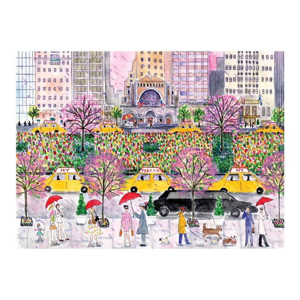 Michael Storrings Spring On Park Avenue 1000 Piece Puzzle 1000 Piece Puzzles Galison