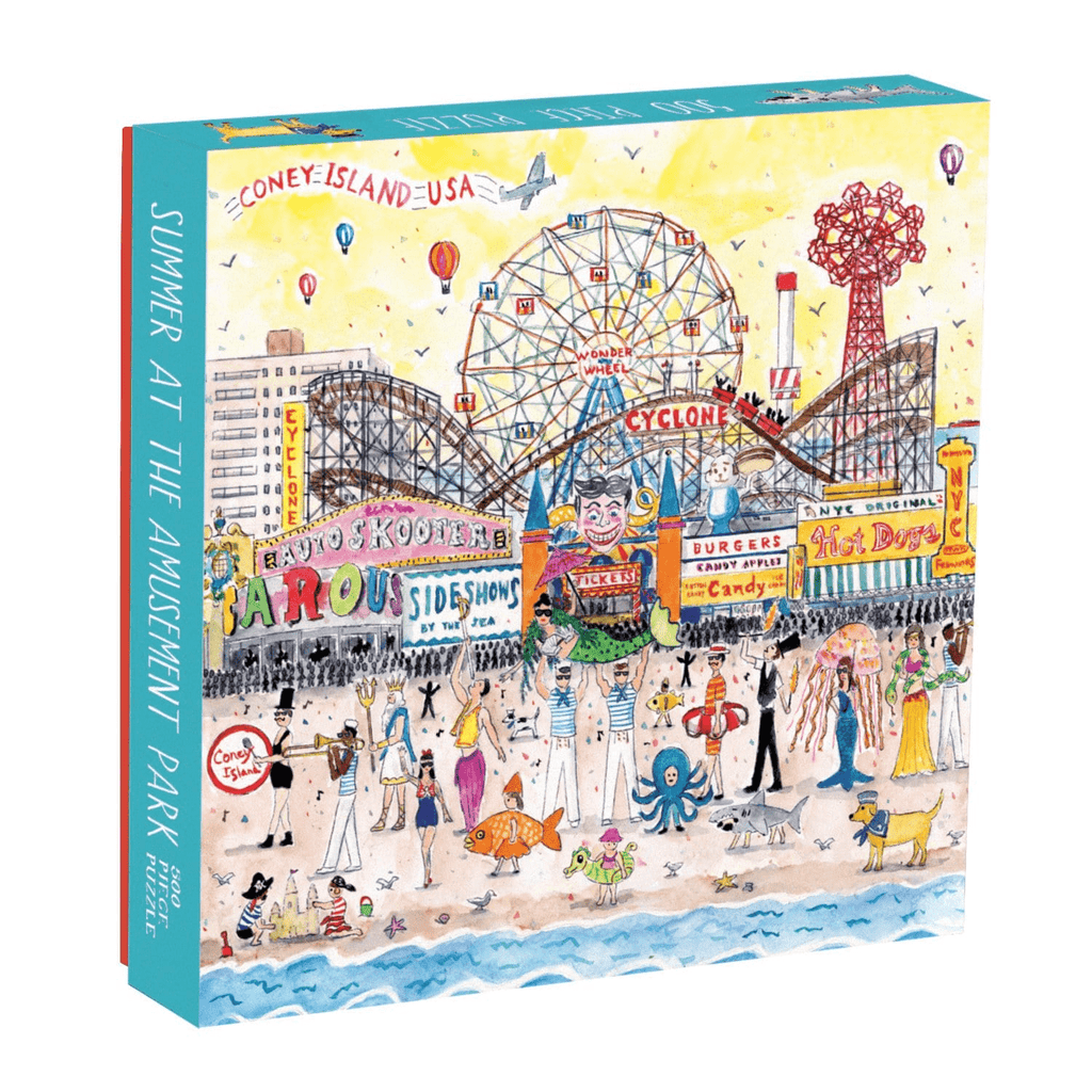 Michael Storrings Summer at the Amusement Park 500 Piece Puzzle 500 Piece Puzzles Galison