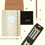 Modern Gold Pencil Set Pens and Pencils Galison