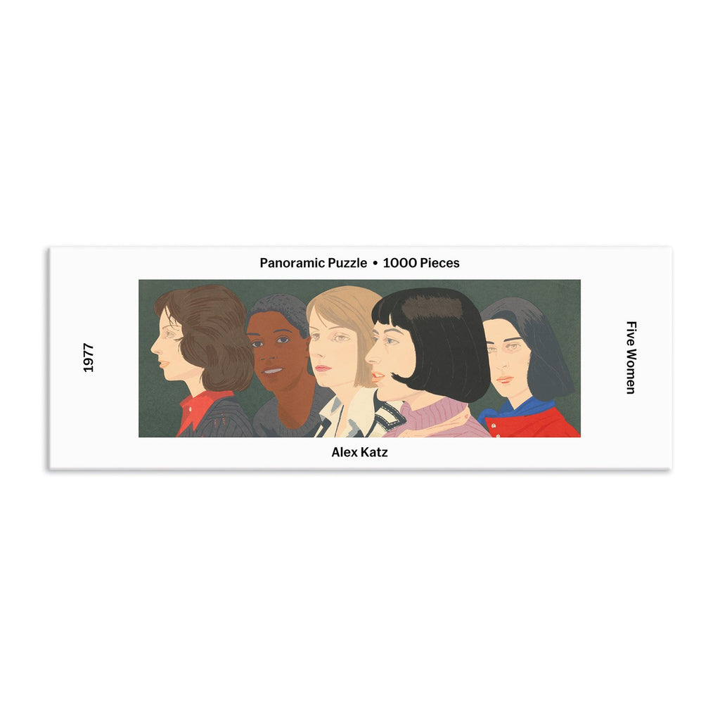 MoMA Alex Katz Five Women Panoramic Puzzle Panoramic Puzzles MoMA Collection