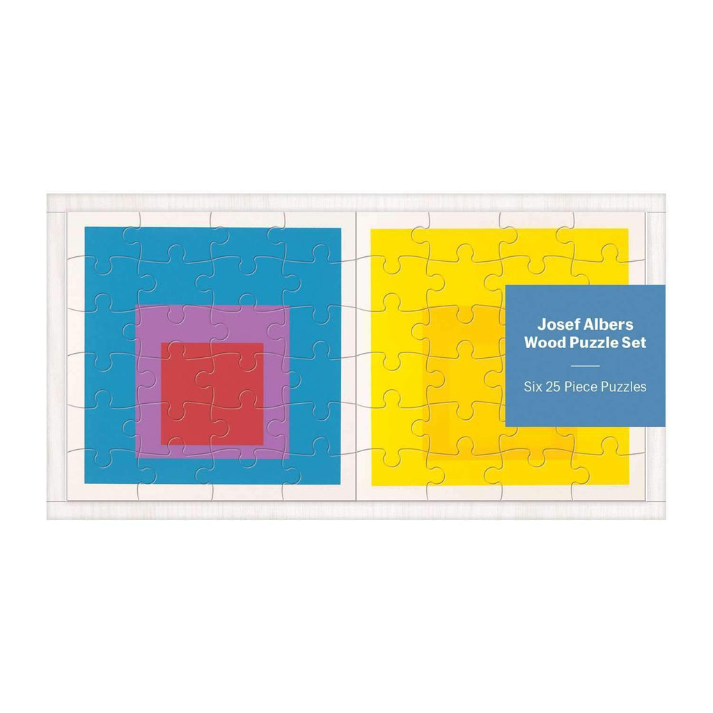 MoMA Josef Albers Wood Puzzle Set Wooden Puzzle Sets Galison