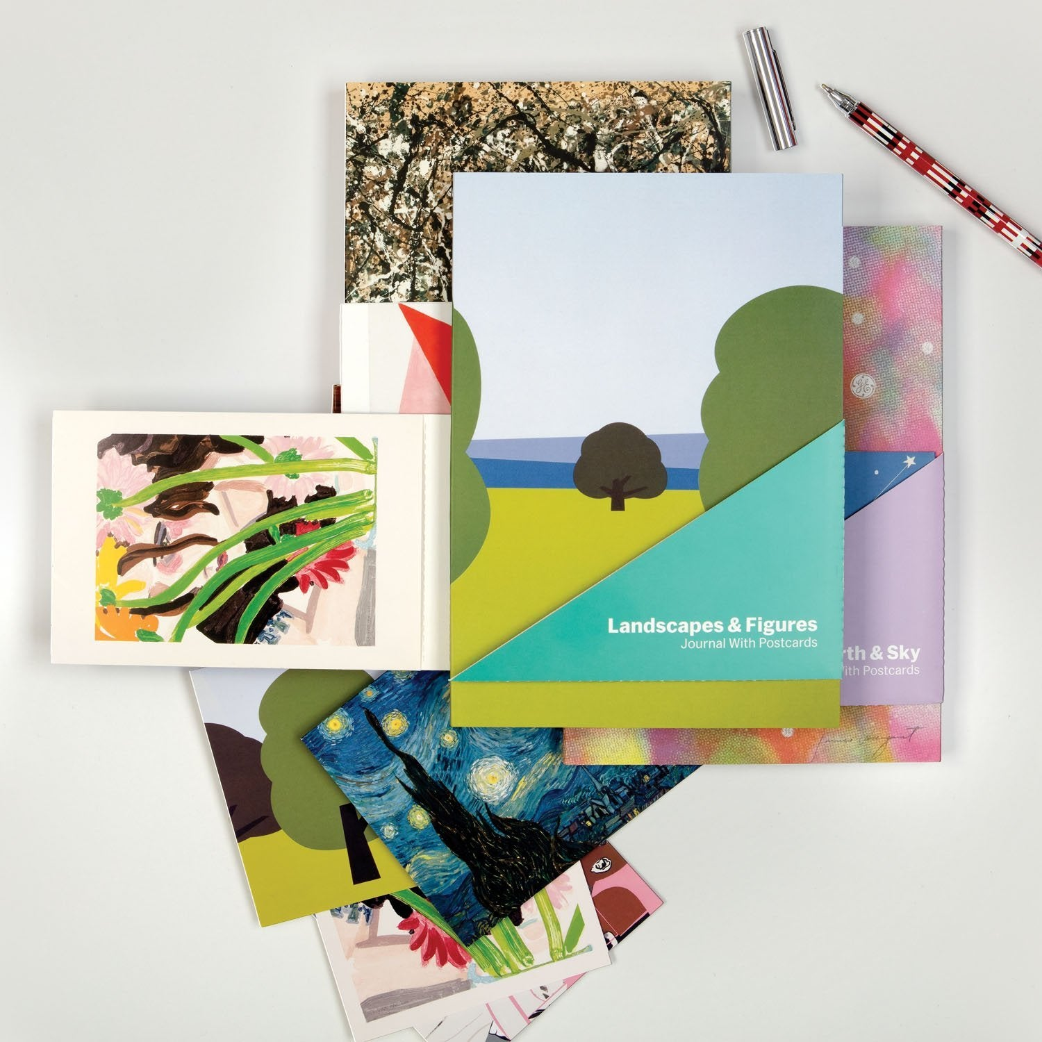 MoMA Landscapes & Figures Journal with Postcard Set Journals and Notebooks Galison