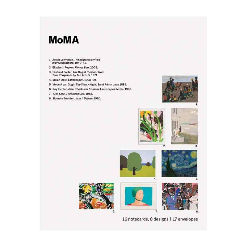 MoMA Landscapes & Figures Notecard Folio Box Greeting Cards Galison