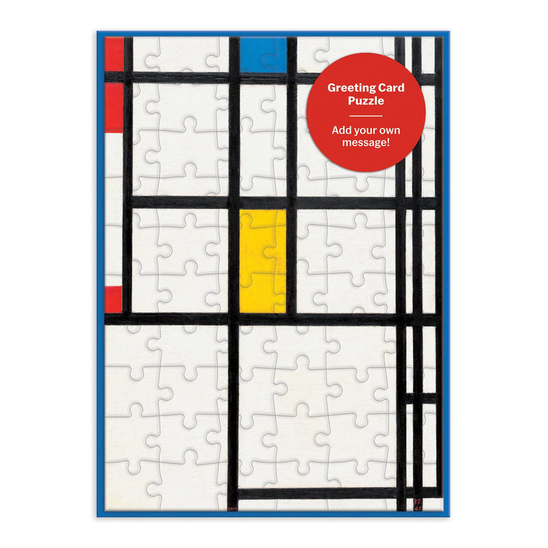 MoMA Mondrian Greeting Card Puzzle Greeting Card Puzzles MoMA Collection