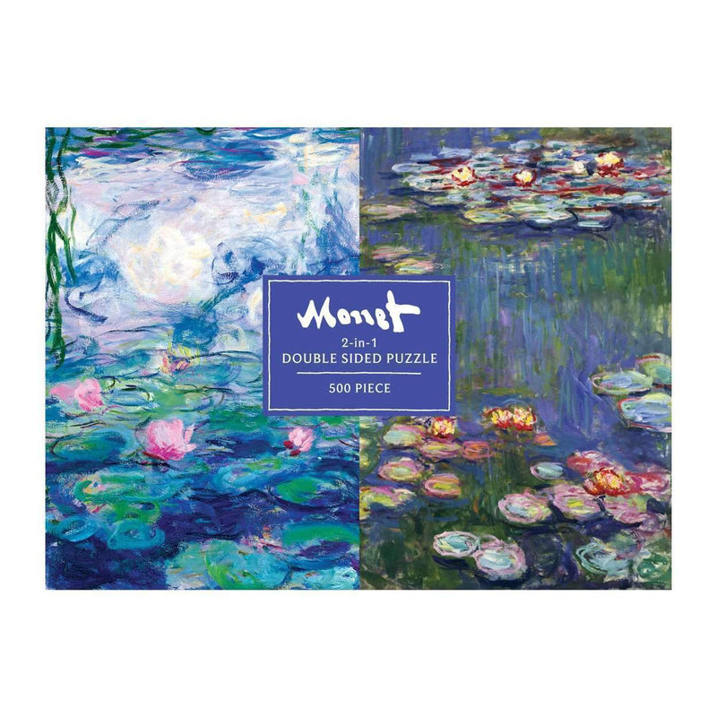 Monet 500 Piece Double Sided Puzzle 2-sided 500 Piece Puzzles Galison